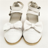 Beautiful Bow Double Belts Lolita Heels Shoes