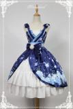 Hyakki Yakō Yuki-onna***  Lolita High Waist JSK Dress With Side Open Design
