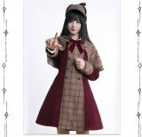 Top Student in Detective Academy~ College Style Lolita Long Coat and Cape -Special Price
