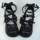 Crossed Straps Bows Lolita Shoes