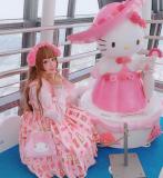 Diamond Honey ~Candy Store Sweet Lolita Jumper -3 Pink L in Stock