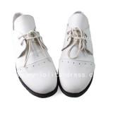 Beautiful White Black Butler Baron Shoes