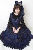 Neverland Lolita -Fly Me to Polaris- Gold Stamping Chiffon Lolita JSK -Version II
