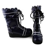 Beautiful Navy Blue& White Boots - 2 Versions
