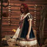 Classical Puppets ~White Snow Babydoll Style Daily Lolita OP -Ready Made