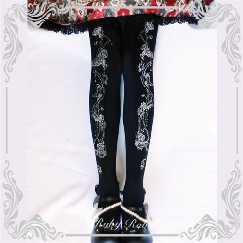 Ruby Rabbit ~Thorns Corolla ~ Lolita Printed Tights