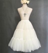 Organza Tailored Long Version Lolita Petticoat - In Stock