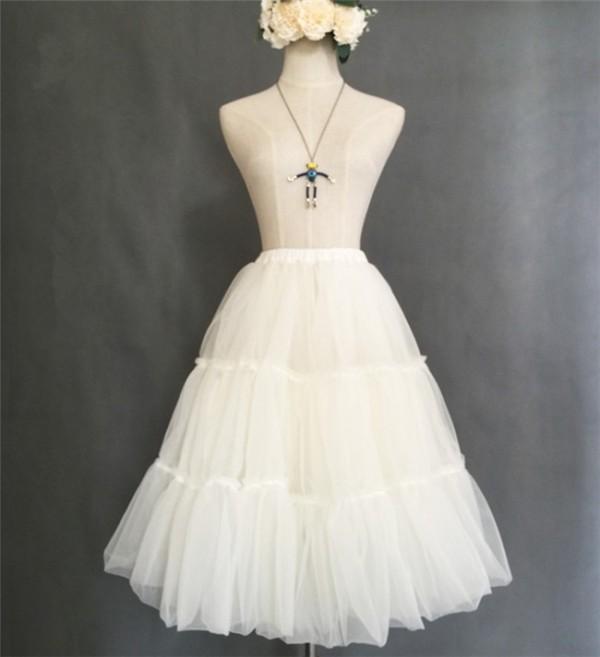 Organza Tailored Long Version Lolita Petticoat 60cm