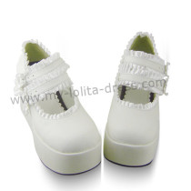 White Lace Lolita Platform Shoes