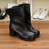 Angelic Imprint- Gothic Square Heels Lolita Short Boots
