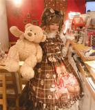 Diamond Honey ~Teddy Bear Chiffon Lolita JSK
