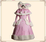 Sweet Bunny Ears Lolita Cape Coat