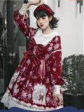 2019 Sweet Winter Printed Lolita OP