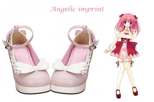 Angel's Wings Sweet Lolita Heel Shoes