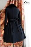 Black Roses Lace Lolita Winter Coat