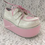 Sweet White with Pink Heart Lolita High Platform