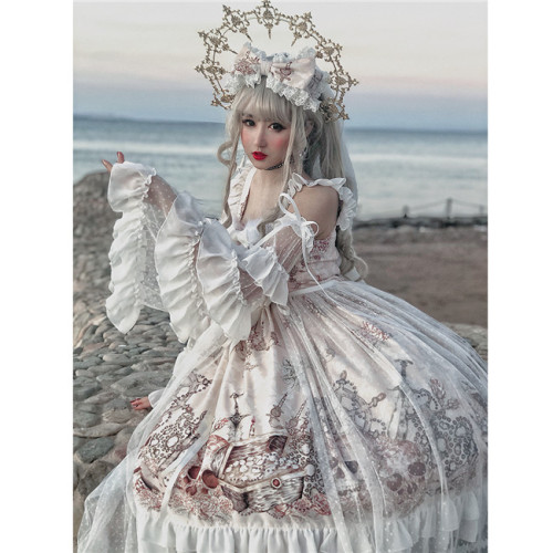 Diamond Honey ~Navigation Treasure~ Chiffon Lolita JSK Black Size - In Stock
