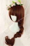 Red Brown Long Curls Lolita Wig