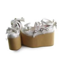 Girls Lolita Princess Shoes Wood Color Sole
