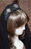 Dark Prints Jacquard Court Style Lolita Crown