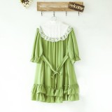 Cute Doll Chiffon Lolita Dress Skyblue M In Stock