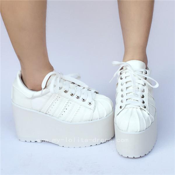 High platform White Matte Lolita Shoes