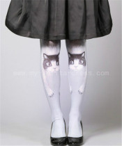 Cat Hold Legs~80D Velvet  Lolita Tights
