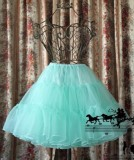 Classical Puppets A-line Petticoat Type 1 -Black In Stock-OUT
