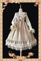 Bud Silk~ Sweet Lolita Jumper+Headbow-Ready Made
