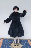 Sister Pearl~ Winter Velvet Vintage Lolita OP Dress -OUT
