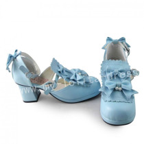 Girl's Sweet Sky Blue Lolita Heels Shoes
