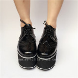 Popular Black Matte Lolita High Platform Shoes