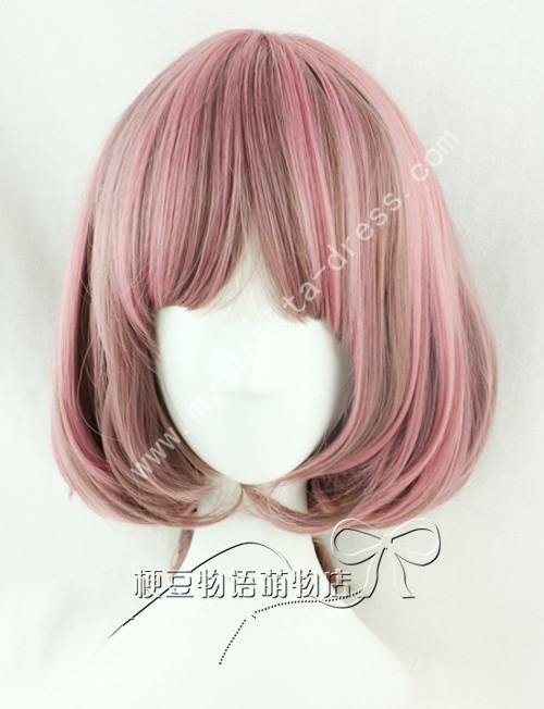 Amo Rosy Brown Curls Lolita Wig