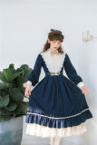 Rose Humanoid~ Stripe Vintage Classic Lolita OP -Ready Made