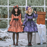 Miss Point ~Clown Daunting Night Black OP Size L +Bat Hairclip+Corset+Overskirt+Collar In Stock