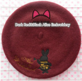 Swimmer Wool Sweet Embroidery Lolita Beret In Stock