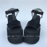 Cream Yellow T Strap Lolita Sandals