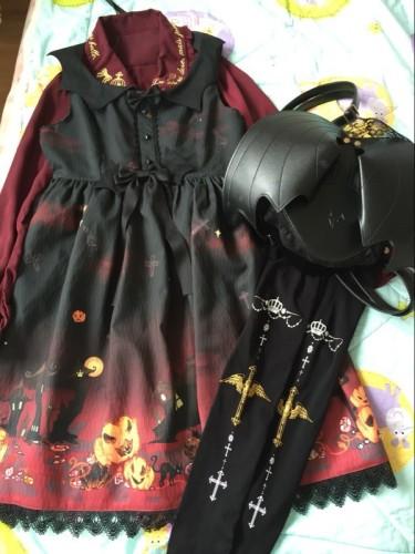 Mu-fish Devil Wings Lolita Bag with Lace Decoration