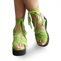 Sweet Green High Platform Lolita Sandals