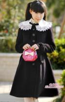 White Lace Collar Waistbelt Lolita Jacket