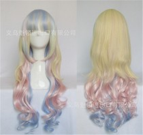 80cm Ice-cream Color Lolita Long Curly Wig For Girls