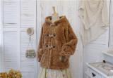 Sweet Dreamer Vintage ~Lucky Duffy Cookies~ Imitation Lamb Fleece Coat