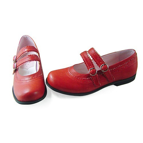 Wine Red Flats Lolita Shoes