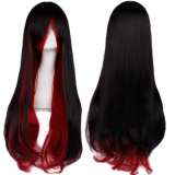 Gothic Black Red Sweet Long Curls Lolita Wig