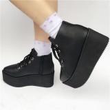 Sweet Matte White Lolita High Platform with Side Zip