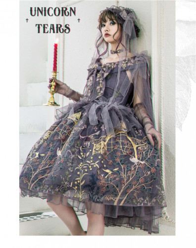 UnicornTears ~ Flowers And Birds Roll Lolita OP -Ready Made