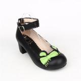 Angelic Imprint- Sweet Bow Belt Lolita Heel Shoes
