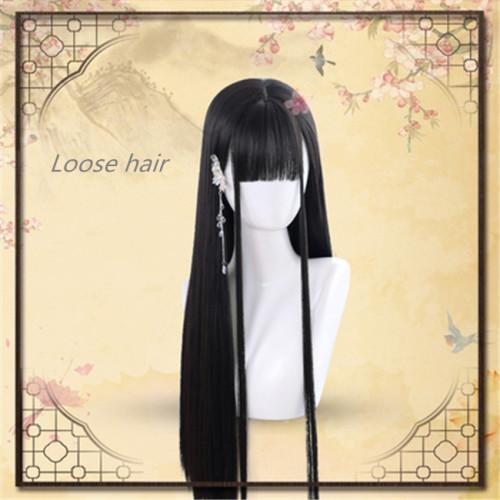 Dalao Home~Moss Long Straight Antique Hanfu Lolita Wig