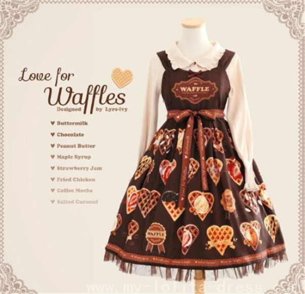 Love for Waffles ~ Sweet Lolita Jumper -2 Versions Ready Made