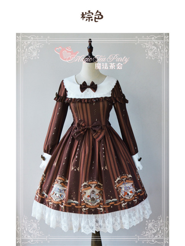 Book Before Sleeping~ Classic Lolita Printed OP